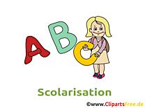 Alphabet dessins gratuits – Début école clipart