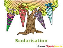 Arbre clip art – Début école gratuite