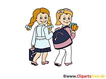 Bonne rentrée clipart – Début école dessins gratuits