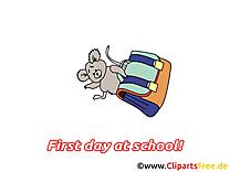 Cartable image gratuite – Début école clipart