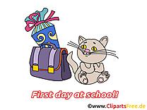 Chat image gratuite – Début école clipart