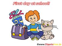 Chat images – Début école dessins gratuits