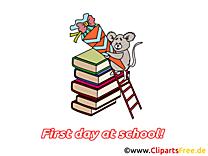 Clip arts gratuits rentrée – Début école illustrations