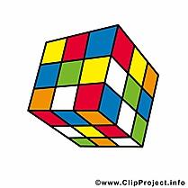 Cube de rubik illustration gratuite – Début école clipart
