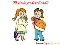 Dessins gratuits rentrée – Début école clipart