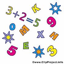 Équations début école illustration à télécharger gratuite