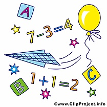 Équations dessins gratuits – Début école clipart