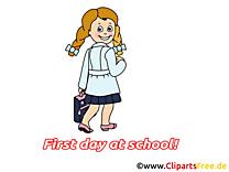 Fille image – Début école images cliparts