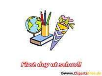 Globe clip art gratuit – Début école dessin