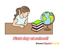 Globe image gratuite – Début école cliparts