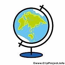 Globe images gratuites – Début école clipart