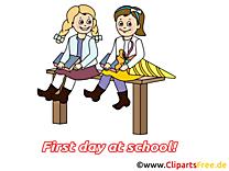 Image gratuite rentrée – Début école clipart