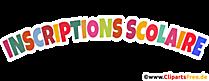 Inscription scolaire clip art
