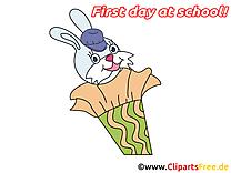 Lapin illustration gratuite – Début école clipart