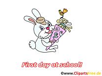 Lapin images gratuites – Début école clipart