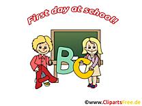 Lettres clip arts gratuits – Début école illustrations