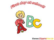 Lettres dessin – Début école à télécharger