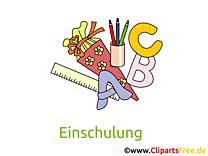 Lettres dessin – Début école clip arts gratuits