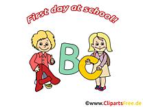 Lettres image – Début école images cliparts