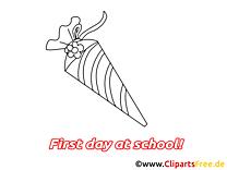 Maternelle clip art à imprimer – Début école dessin
