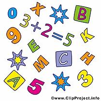 Math images – Début école dessins gratuits