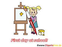 Peintre clipart – Début école dessins gratuits