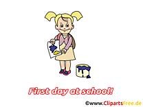 Petite fille clip arts gratuits – Début école illustrations