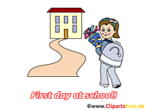Premier jour dessin – Début école à télécharger