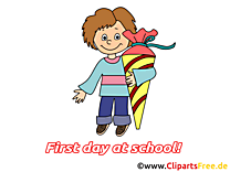 Premier jour images – Début école clip art gratuit