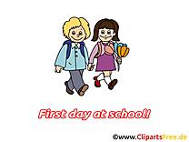 Premier jour images gratuites – Début école clipart