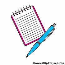Stylo cahier dessin – Début école à télécharger