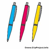 Stylos dessin – Début école clip arts gratuits