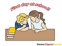 Voisin début école illustration à télécharger gratuite