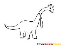 Apatosaurus clip arts à colorier – Dinosaure illustrations
