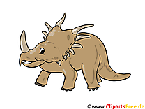 Styracosaurus illustration gratuite – Dinosaure clipart