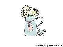 Arrosoir dessin gratuit - Rose clip arts gratuits
