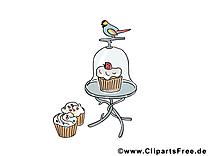 Bouvreuil illustration gratuite - Gâteaux clipart