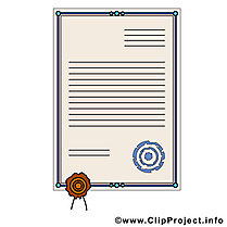 Certificat clip arts gratuits - Diplôme illustrations