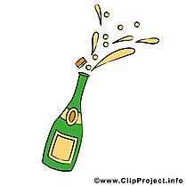 Champagne clipart gratuit - Boisson images