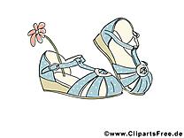 Chaussures illustration gratuite - Fleur clipart