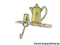 Clés illustration gratuite - Théière clipart