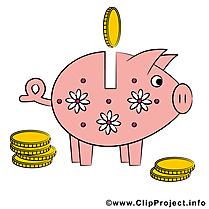 Cochon tirelire images - Argent clip art gratuit
