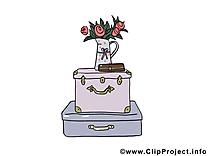 Coffre dessin gratuit - Fleurs image gratuite