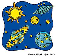 Cosmos clip arts gratuits - Planètes illustrations