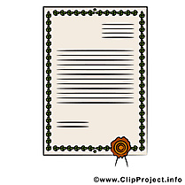 Document clip art – Diplôme image gratuite