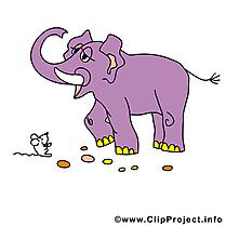 Éléphant dessins gratuits - Souris clipart gratuit