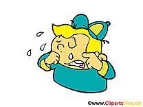 Enfant pleure illustration à télécharger gratuite