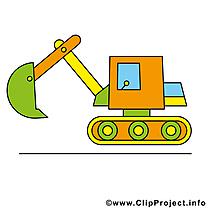 Excavateur image gratuite - Travaux illustration