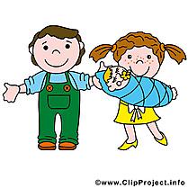 Famille clipart gratuit - Bébé dessins gratuits
