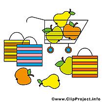 Fruits clip art gratuit - Shoping dessin